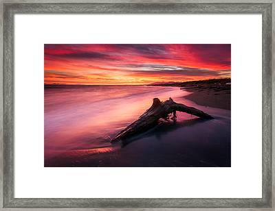 Iona Beach Sunset Framed Print by Alexis Birkill