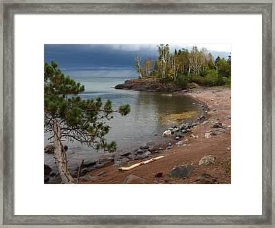 Framed Print featuring the photograph Iona's Beach by James Peterson