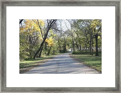 Iowa Back Road Framed Print by Amelia Painter