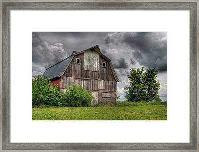 Iowa Barn Framed Print