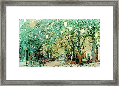 Iowa City Ped Mall Winter Framed Print