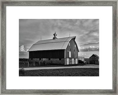 Iowa Farm At Sunset Framed Print