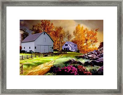 Iowa Farm Framed Print by Ron Chambers