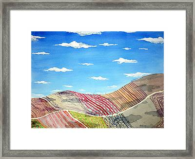 Iowa Fields  Iowa Clouds Framed Print