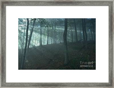 Iowa Fog Rays Framed Print