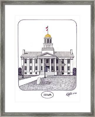 Iowa Framed Print