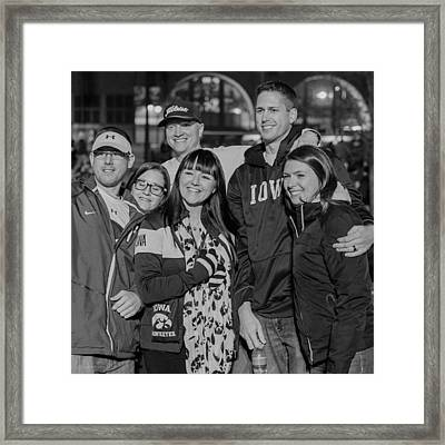 Iowa Hawkeyes Fans In Town For Big Ten Framed Print