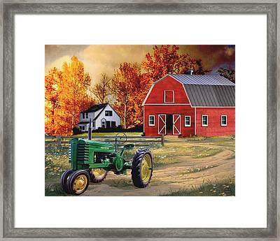 Iowa John Deere Framed Print by Ron Chambers