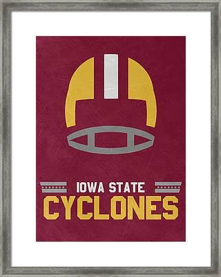 Iowa State Cyclones Vintage Football Art Framed Print by Joe Hamilton