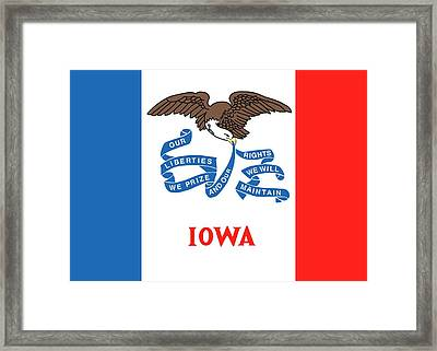 Iowa State Flag Framed Print by American School