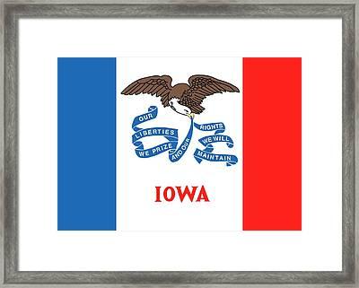 Iowa State Flag Framed Print