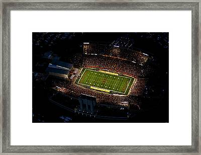 Iowa State Jack Trice Stadium Aerial  Framed Print by Iowa State