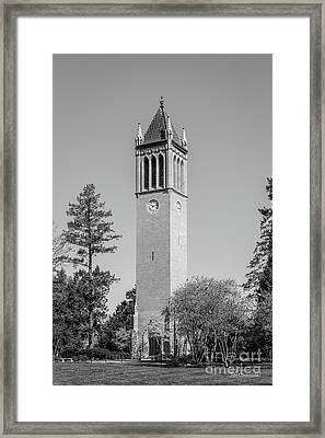 Iowa State University Campanile Framed Print by University Icons