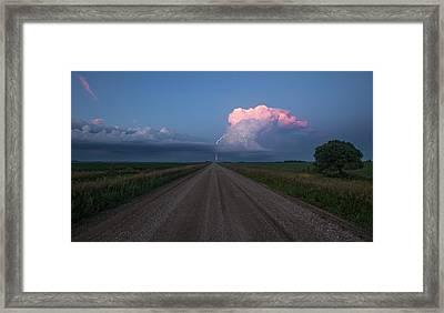 Iowa Supercell Framed Print by Aaron J Groen