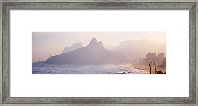 Ipanema Beach Rio De Janeiro Brazil Framed Print by Panoramic Images