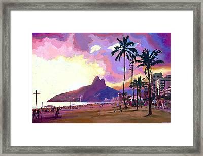 Ipanema Sunset Framed Print by Douglas Simonson
