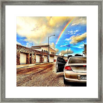 #iphone # Rainbow Framed Print by Estefania Leon