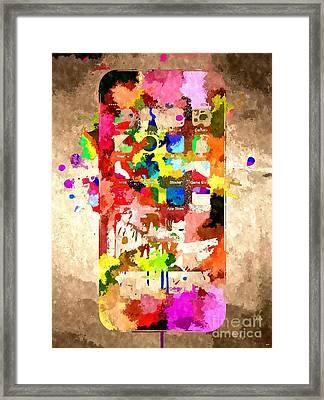 iPhone 6 Grunge Framed Print by Daniel Janda