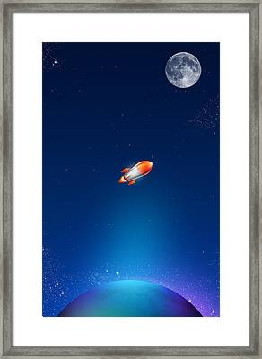 iPhone Case Framed Print by Liliia Mandrino