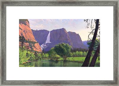 iPhone - Galaxy Cellphone Case - Mountain Waterfall Stream Framed Print by Walt Curlee