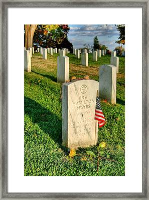 Ira Hayes Framed Print by JC Findley