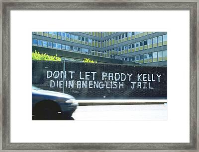 Ira Message In Belfast Ireland Framed Print