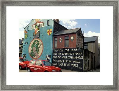 Ira Mural In Belfast Framed Print