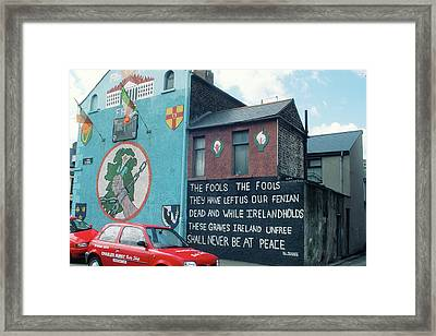Ira Mural In Belfast Ireland Framed Print