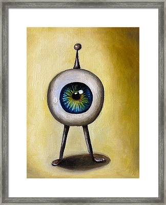 Ira The Little Alien Framed Print by Leah Saulnier The Painting Maniac