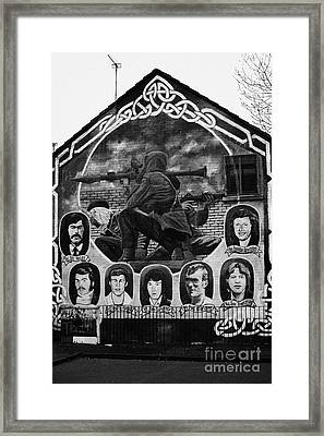 Ira Wall Mural Belfast Framed Print by Joe Fox