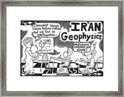 Iranian Geophysics Theories Framed Print by Yonatan Frimer Maze Artist