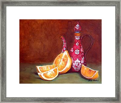 Iranian Lemons Framed Print by Enzie Shahmiri