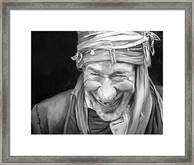Iranian Man Framed Print by Enzie Shahmiri