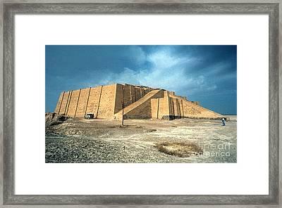 Iraq: Ziggurat In Ur Framed Print by Granger