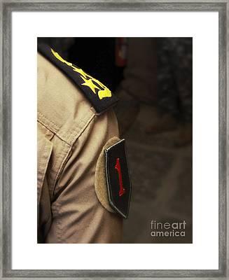 Iraqi Air Force General Sports A Big Framed Print