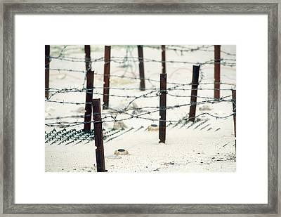 Iraqi Anti-personnel Mines And Barbed Framed Print by Everett