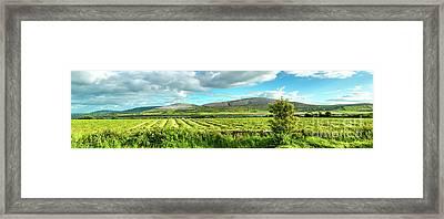 Ireland  - Burren Panorama Framed Print by Juergen Klust