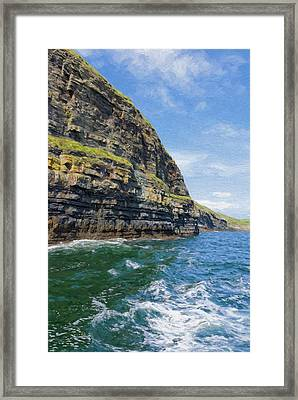 Ireland Cliffs Framed Print