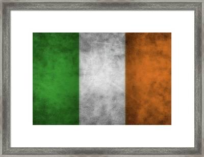 Ireland Grunge Flag Framed Print by Dan Sproul