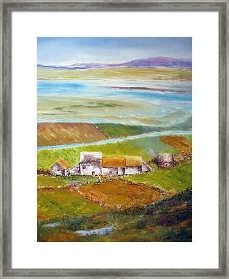Ireland In Fall Framed Print by Lisa Boyd