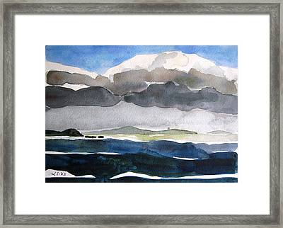 Ireland Mutton Isle Clare Framed Print by Lesley Giles