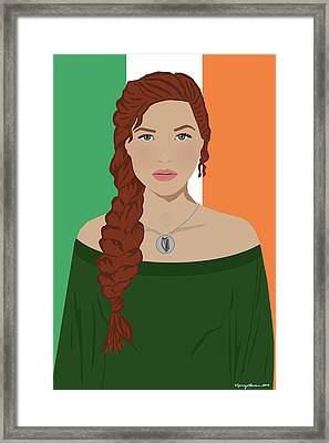 Framed Print featuring the digital art Ireland by Nancy Levan