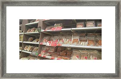 Ireland Yummy Food Shopping Time Framed Print by Betsy Knapp