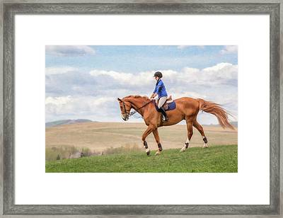 Irene And Boomer Framed Print