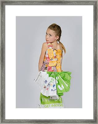 Irene In Tea Bags Shirt And Banners Skirt Framed Print