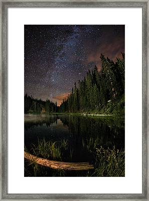 Irene's Misty Back Side Framed Print by Mike Berenson