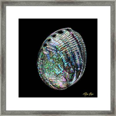 Framed Print featuring the photograph Iridescence On The Half-shell by Rikk Flohr