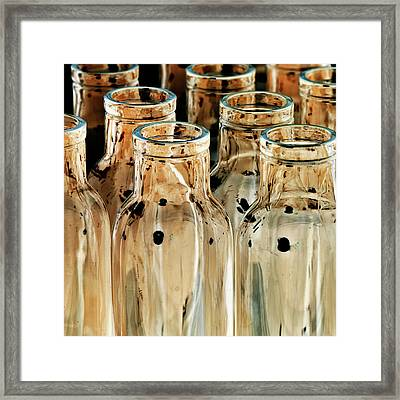 Iridescent Bottle Parade Framed Print