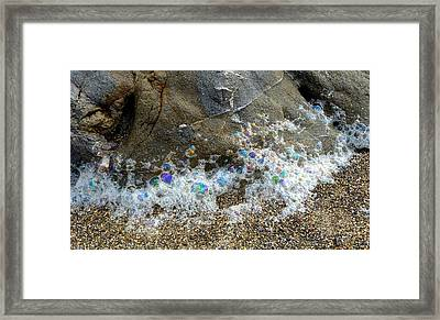 Iridescent Seafoam Necklace Framed Print