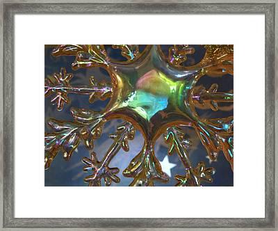 Iridescent Snowflake Framed Print